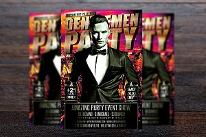 Gentlemen Party Flyer
