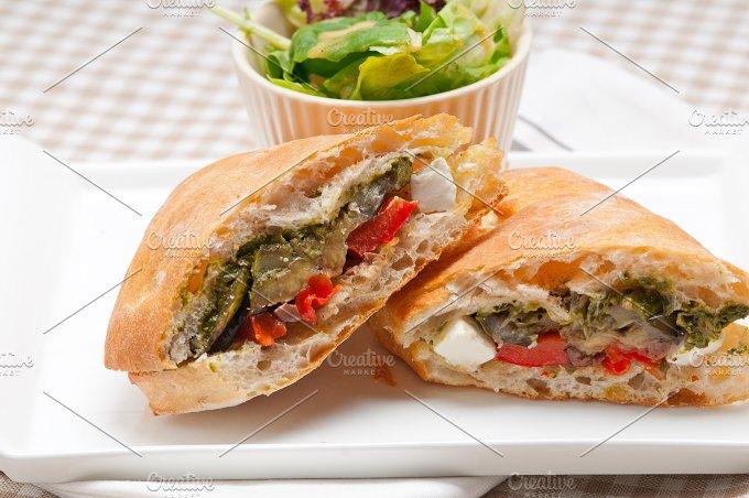 grilled vegetables and feta ciabatta sandwich 01.jpg - Food & Drink