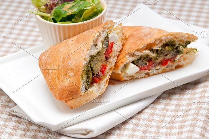 grilled vegetables and feta ciabatta sandwich 04.jpg - Food & Drink