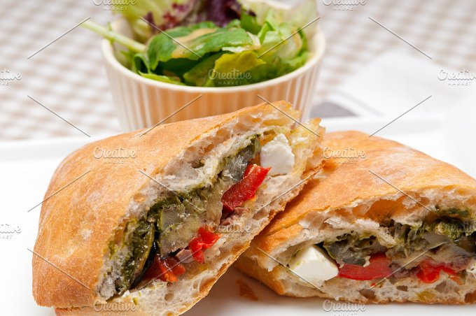 grilled vegetables and feta ciabatta sandwich 05.jpg - Food & Drink