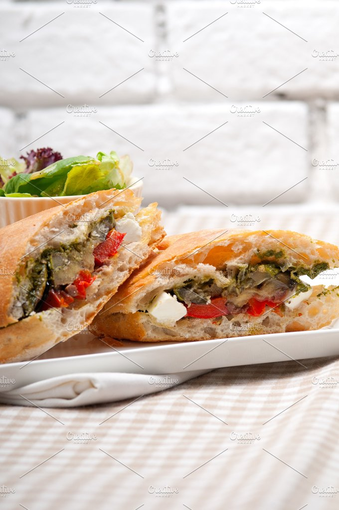 grilled vegetables and feta ciabatta sandwich 14.jpg - Food & Drink
