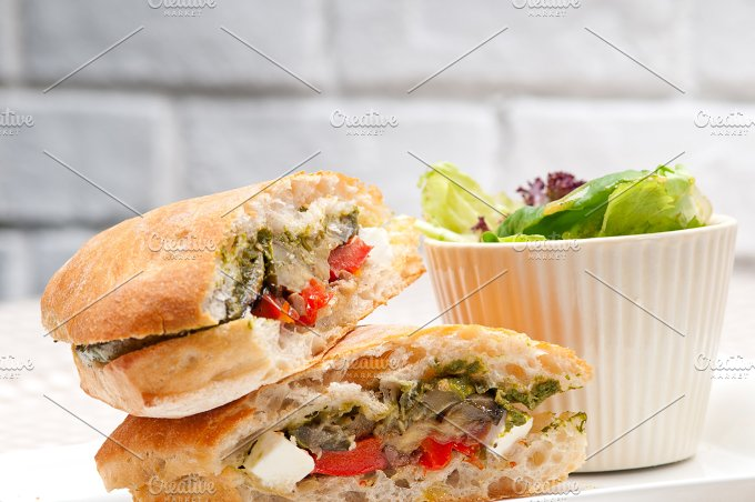 grilled vegetables and feta ciabatta sandwich 27.jpg - Food & Drink