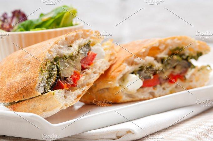 grilled vegetables and feta ciabatta sandwich 23.jpg - Food & Drink