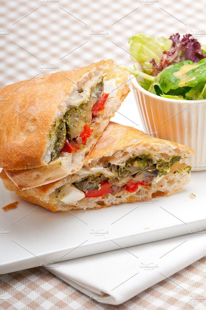 grilled vegetables and feta ciabatta sandwich 29.jpg - Food & Drink