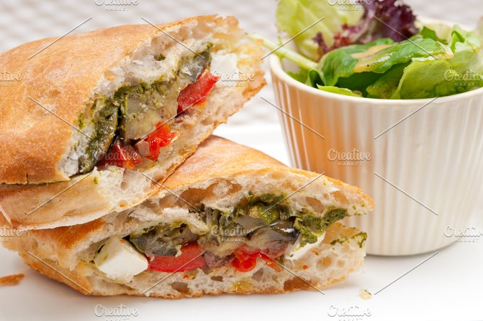 grilled vegetables and feta ciabatta sandwich 28.jpg - Food & Drink