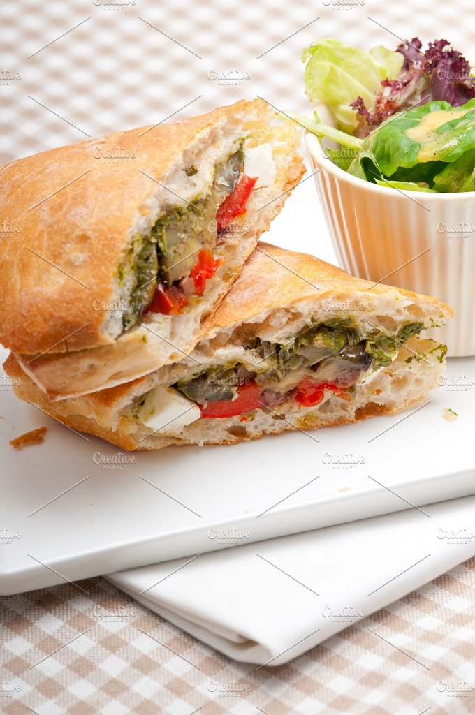 grilled vegetables and feta ciabatta sandwich 30.jpg - Food & Drink