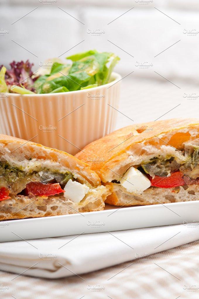 grilled vegetables and feta ciabatta sandwich 33.jpg - Food & Drink