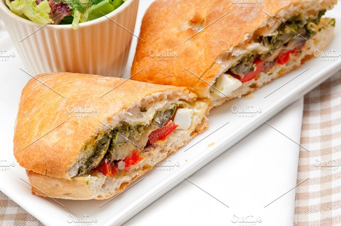grilled vegetables and feta ciabatta sandwich 36.jpg - Food & Drink