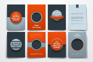 World AIDS Day. Brochure Templates