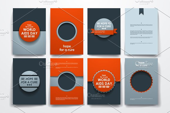 world aids day brochure templates brochure templates creative market