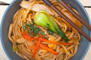 hand pulled ramen noodles and vegetables 006.jpg