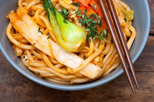 hand pulled ramen noodles and vegetables 037.jpg