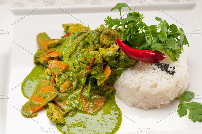 green curry chicken and vegetable stew with rice 09.jpg - Food & Drink