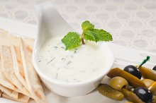 Greek Tzatziki yogurt dip 01.jpg