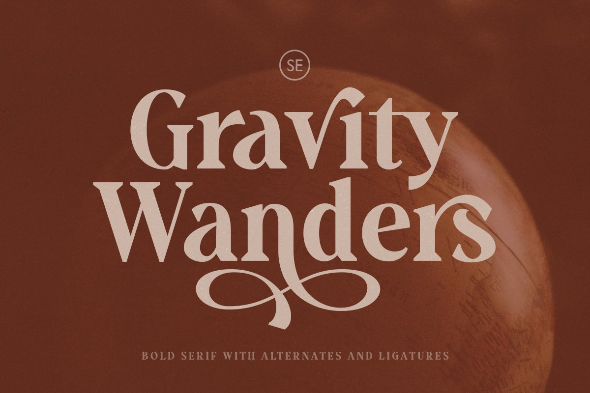 Gravity Wanders - Stylish Bold Serif in Serif Fonts - product preview 8