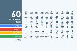 60 restaurant icons