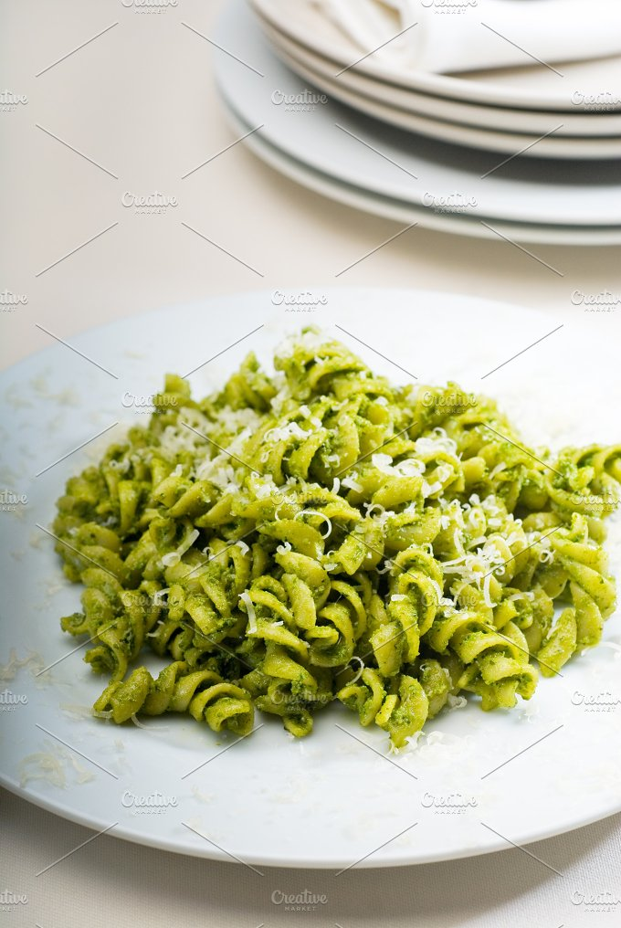 fusilli pasta and pesto sauce 2.jpg - Food & Drink