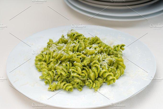fusilli pasta and pesto sauce 6.jpg - Food & Drink