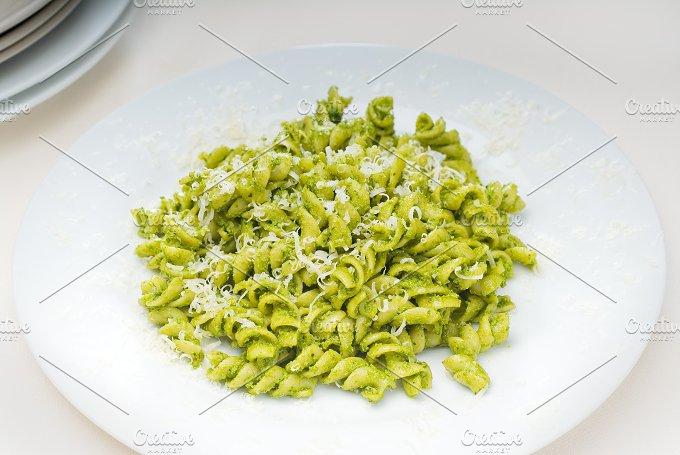 fusilli pasta and pesto sauce 7.jpg - Food & Drink