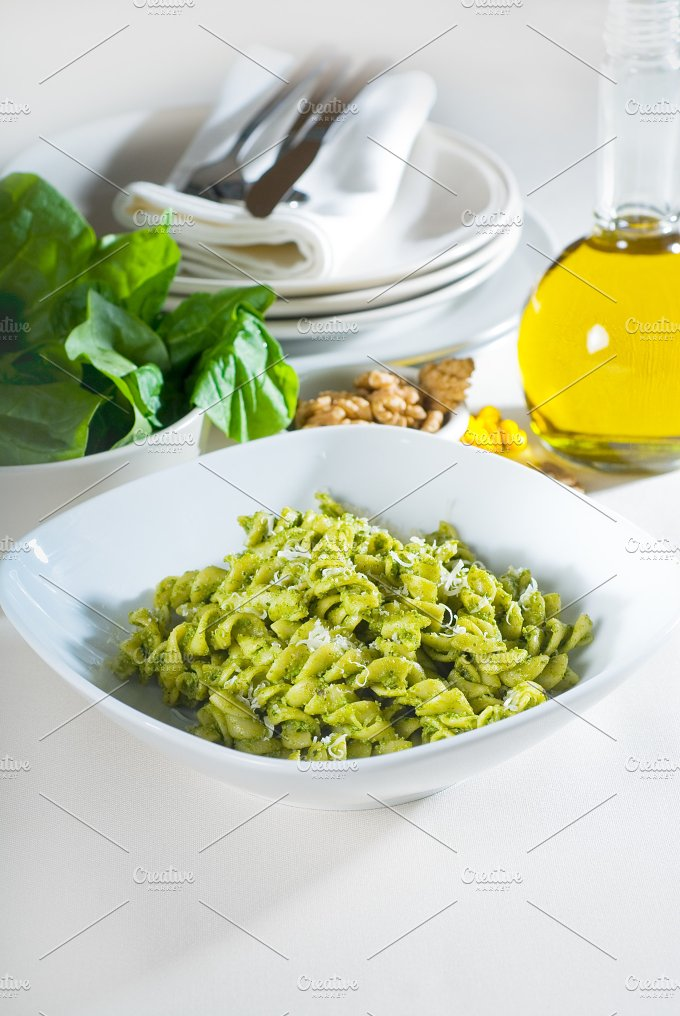 fusilli pasta and pesto sauce 12.jpg - Food & Drink