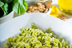 fusilli pasta and pesto sauce 11.jpg