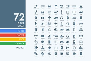 72 game icons