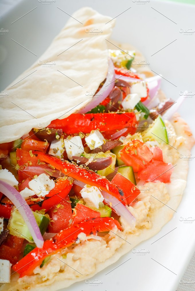 fresh salad wrap 5.jpg - Food & Drink