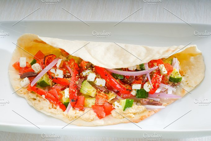 fresh salad wrap 10.jpg - Food & Drink