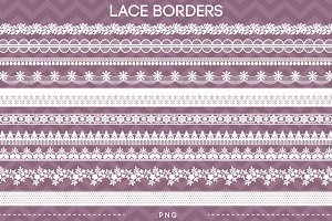 10 Lace Borders Clip Art III