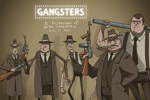 Gangsters bundle, vector