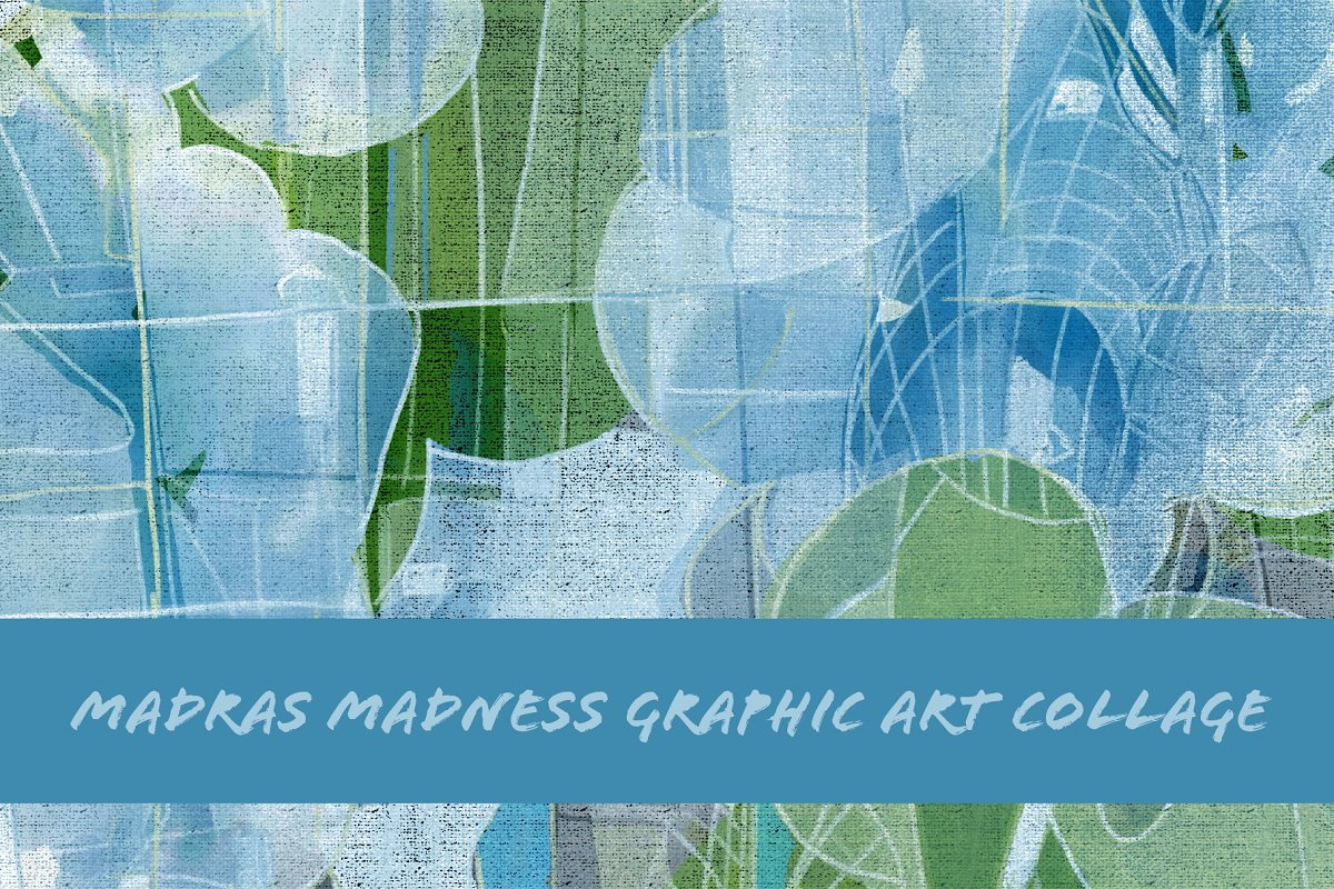 Madras Madness Graphic Art Collage