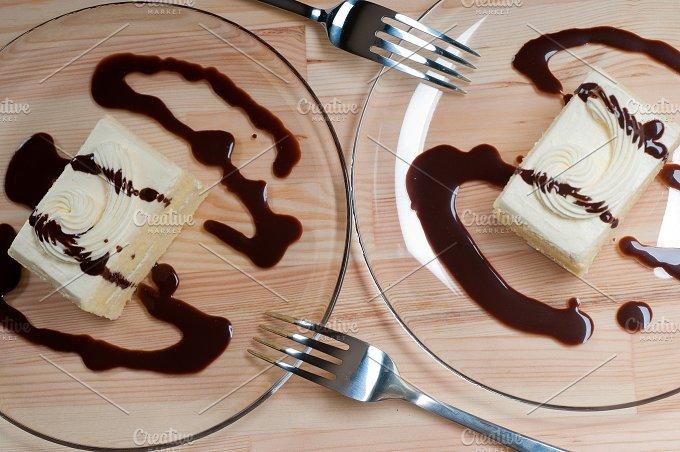 fresh cream cake with chocolate sauce 12.jpg - Food & Drink