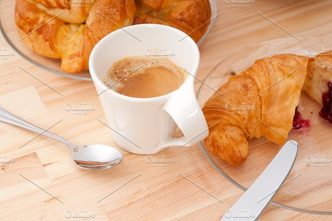 coffee and croissant french brioche 01.jpg - Food & Drink