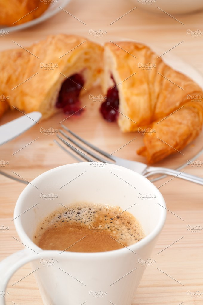 coffee and croissant french brioche 04.jpg - Food & Drink