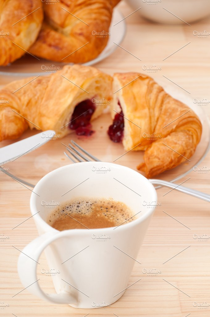 coffee and croissant french brioche 05.jpg - Food & Drink