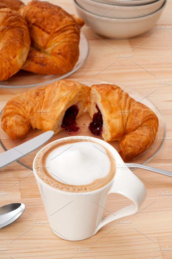 coffee and croissant french brioche 09.jpg - Food & Drink