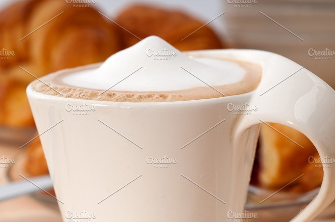 coffee and croissant french brioche 12.jpg - Food & Drink