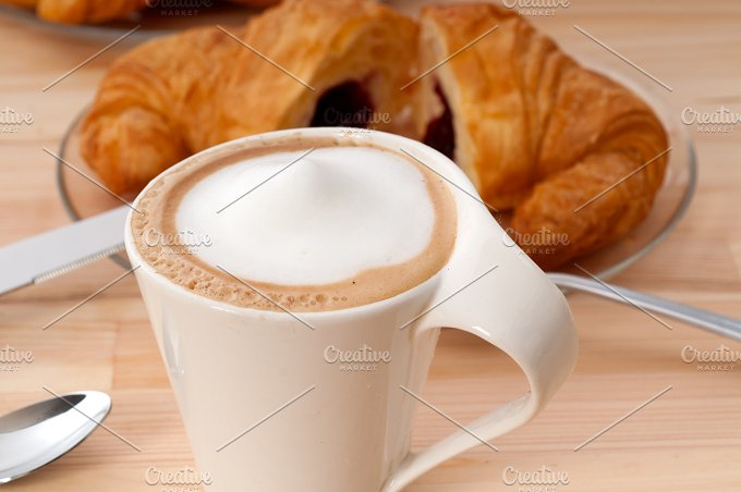 coffee and croissant french brioche 13.jpg - Food & Drink