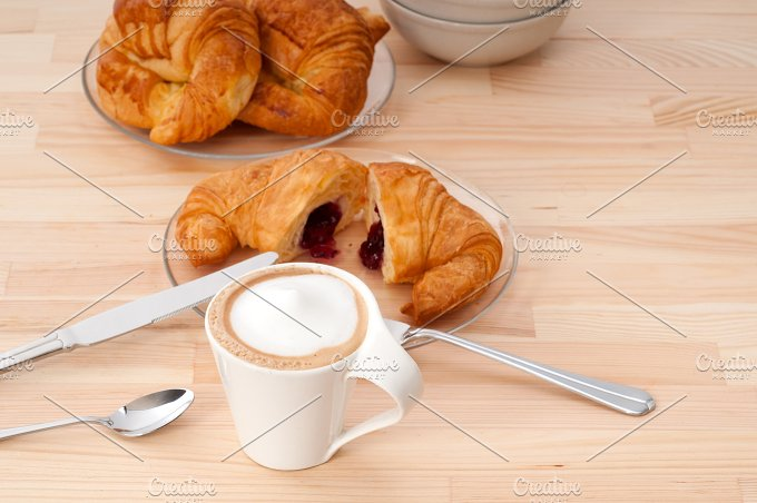 coffee and croissant french brioche 15.jpg - Food & Drink