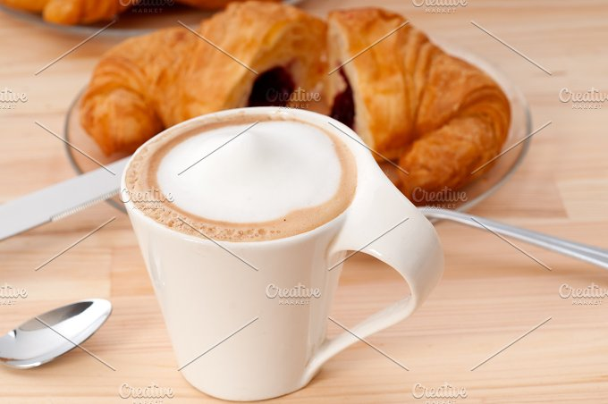coffee and croissant french brioche 14.jpg - Food & Drink