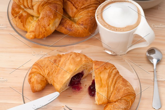 coffee and croissant french brioche 20.jpg - Food & Drink