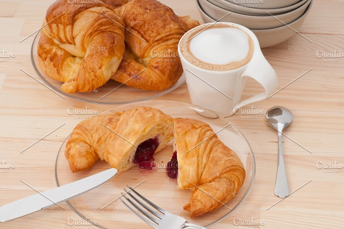 coffee and croissant french brioche 21.jpg - Food & Drink