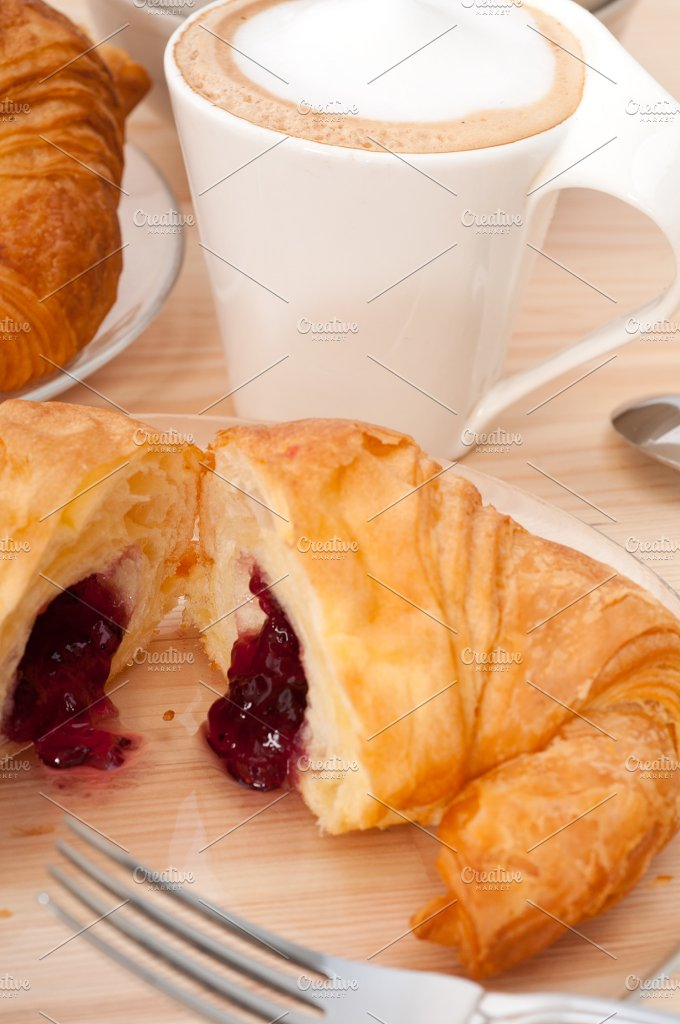 coffee and croissant french brioche 25.jpg - Food & Drink