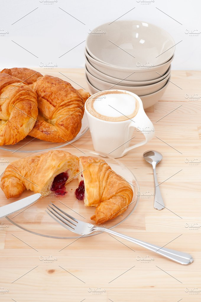 coffee and croissant french brioche 28.jpg - Food & Drink