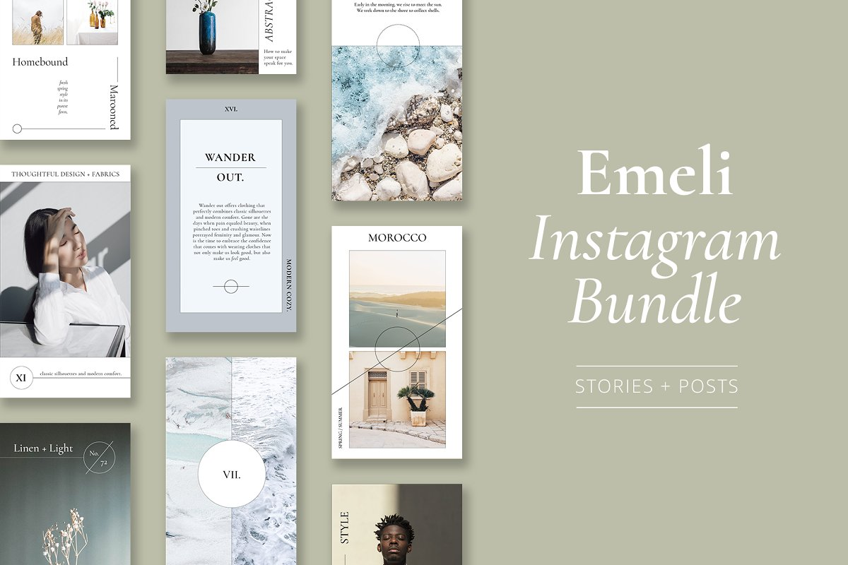 Emelie Instagram Template Bundle