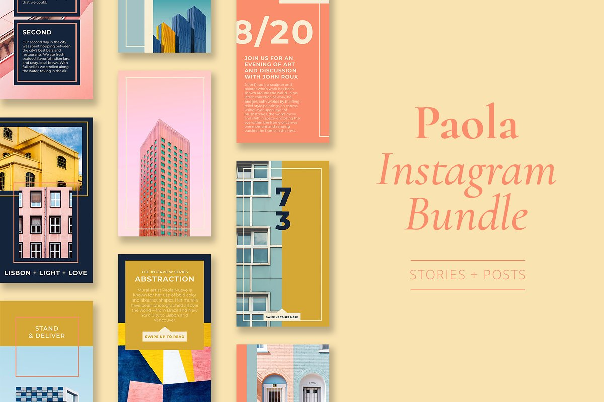 Paola Instagram Template Bundle