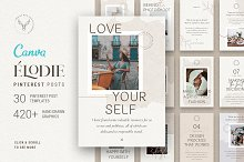 Elodie - Canva Pinterest Templates by  in Social Media