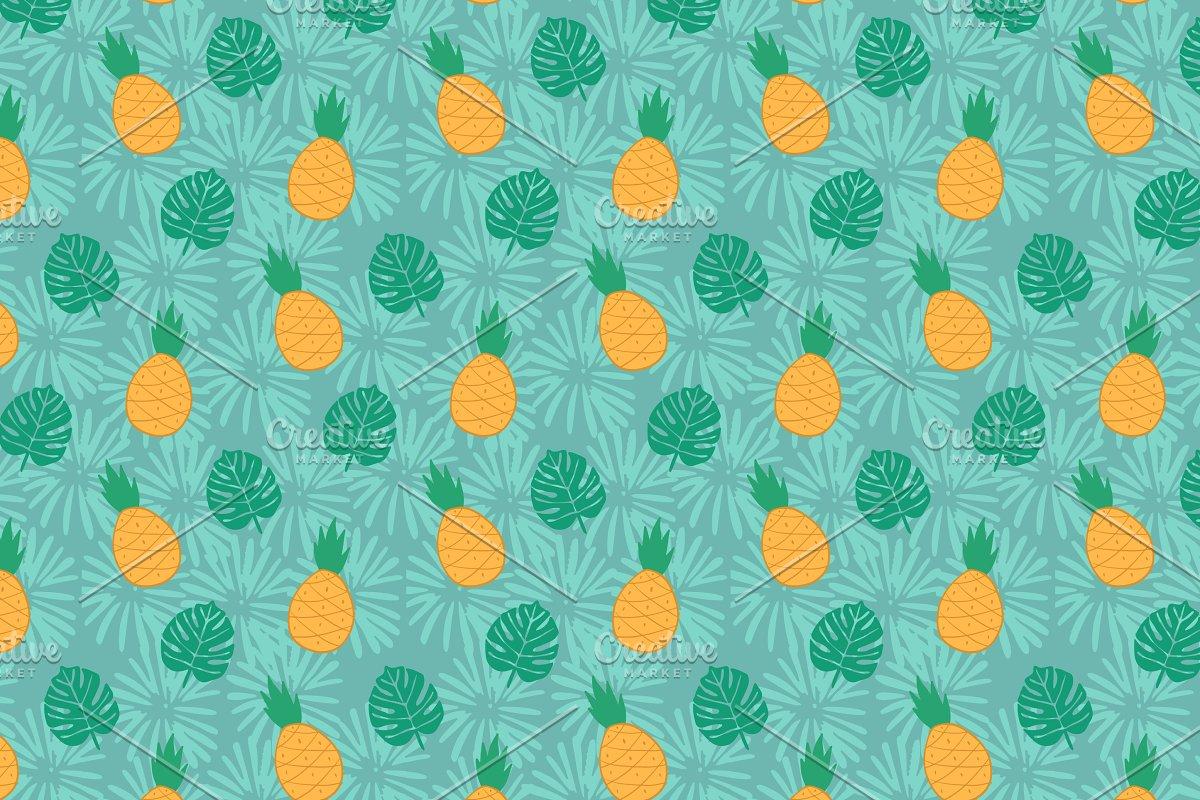 Jungle Fruit Tropical Pattern