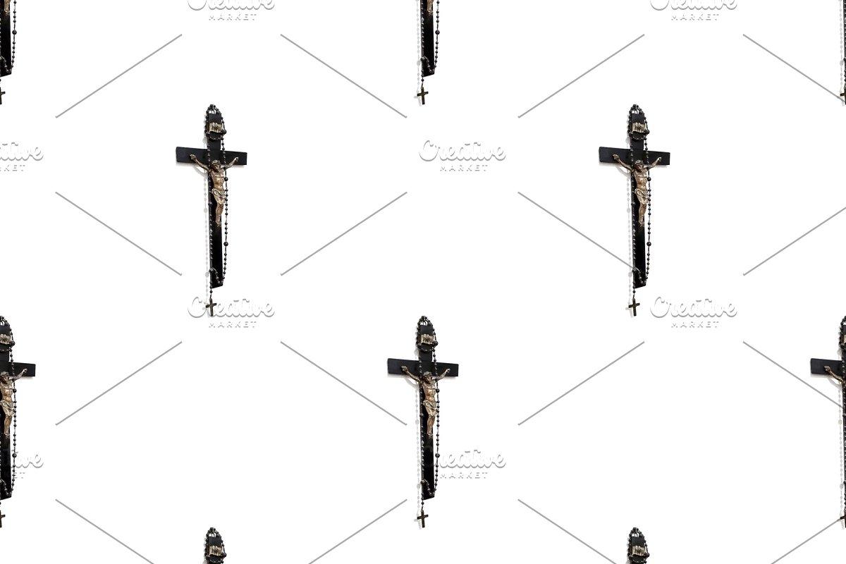 Jesuschrist at Cross Sculpture Motif