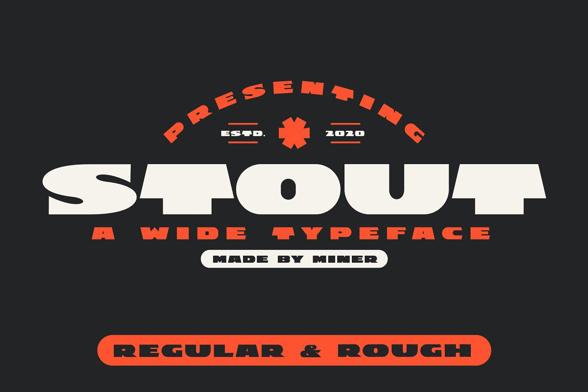 STOUT : Wide Vintage Modern Typeface